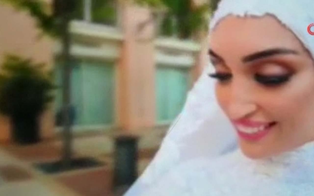 Beyrut'ta çift düğün fotoğrafı çektirdiği sırada patlamaya yakalandı
