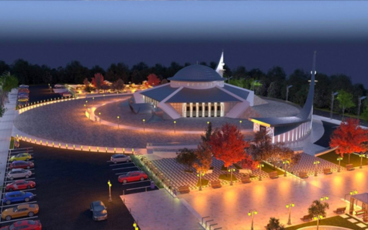 Türkiye'nin ilk ay yıldız camisi ibadete açıldı! Mimarisi muhteşem