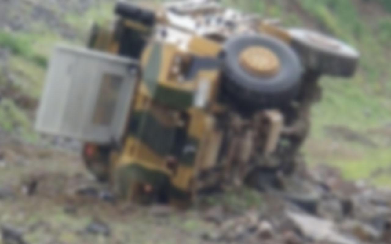 Iğdır'da askeri araç devrildi: Yaralı askerler var