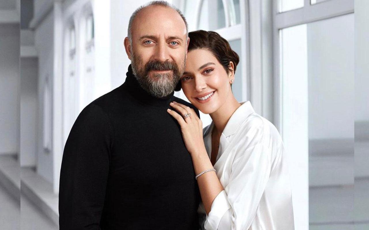 Bergüzar Korel'den Halit Ergenç'e romantik kutlama evliliklerinde 11. yıl