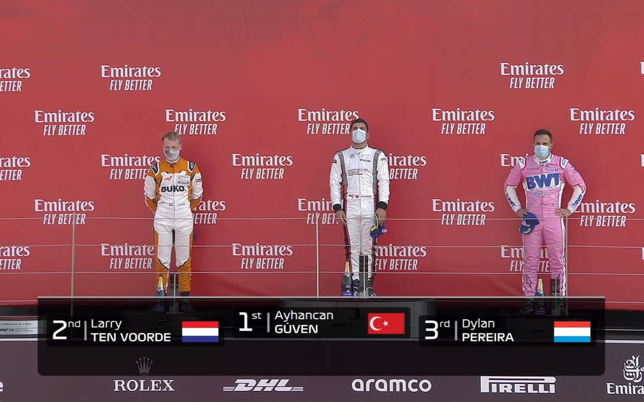 Porsche Supercup'ta zafere ulaşan Aycancan Güven İstiklal Marşımızı İngilizlere dinletti
