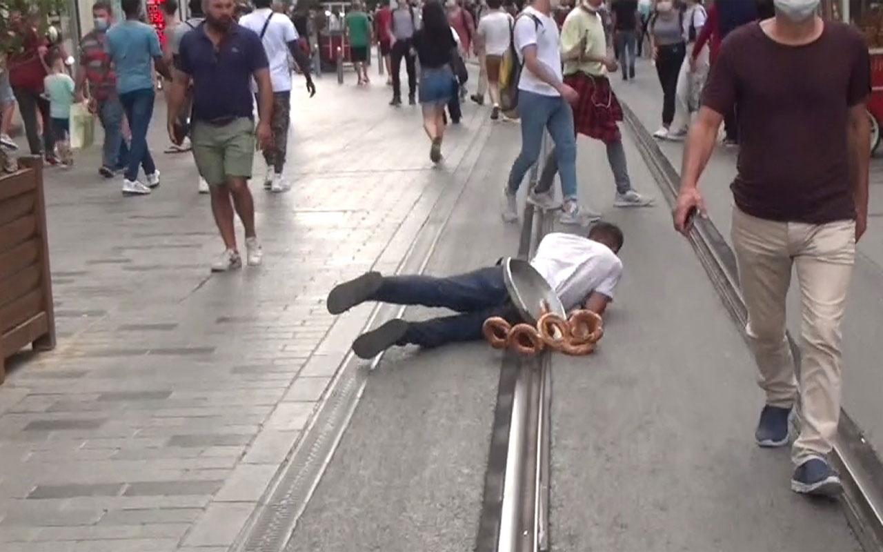 Taksim'de dilencinin 'Oscarlık' duygu sömürüsü performansı polise takıldı