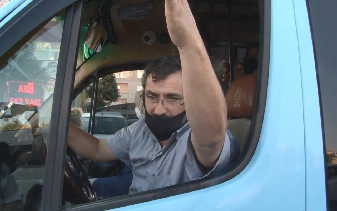 Esenyurt'ta ana baba günü minibüsün şoförü o soruya bakın nasıl cevap verdi