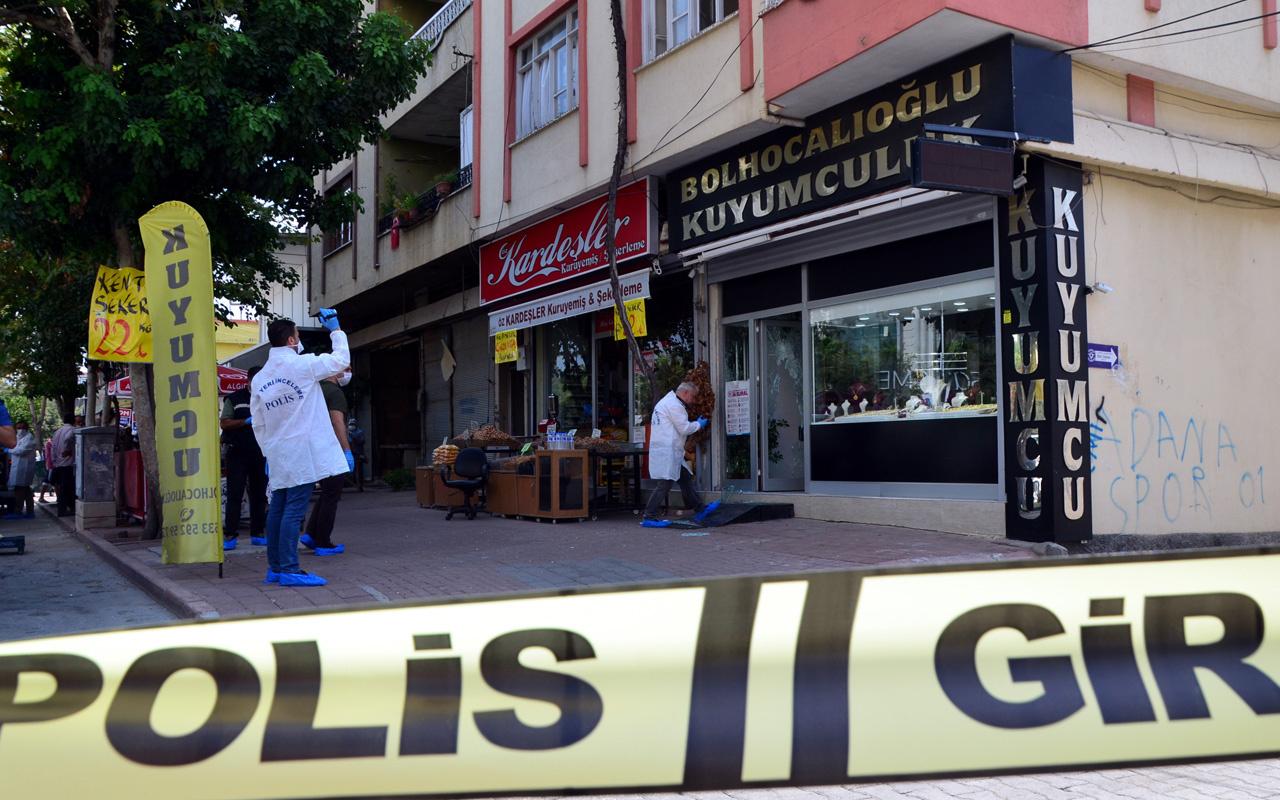 Adana'da kuyumcu soygunu! Kadın kılığında girip vurdular