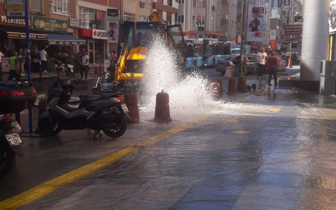 Beşiktaş'ta su borusu volkan gibi patladı