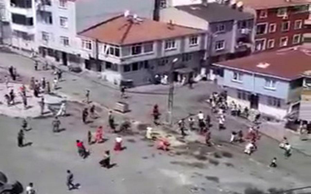Burası İstanbul! Esenler'de mahalle kavgasında ortalık savaş alanına döndü