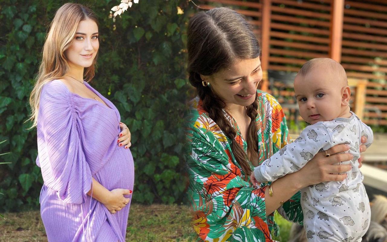 Hazal Kaya bebeği Fikret Ali ile set arkasından paylaştı resmen yorum yağdı