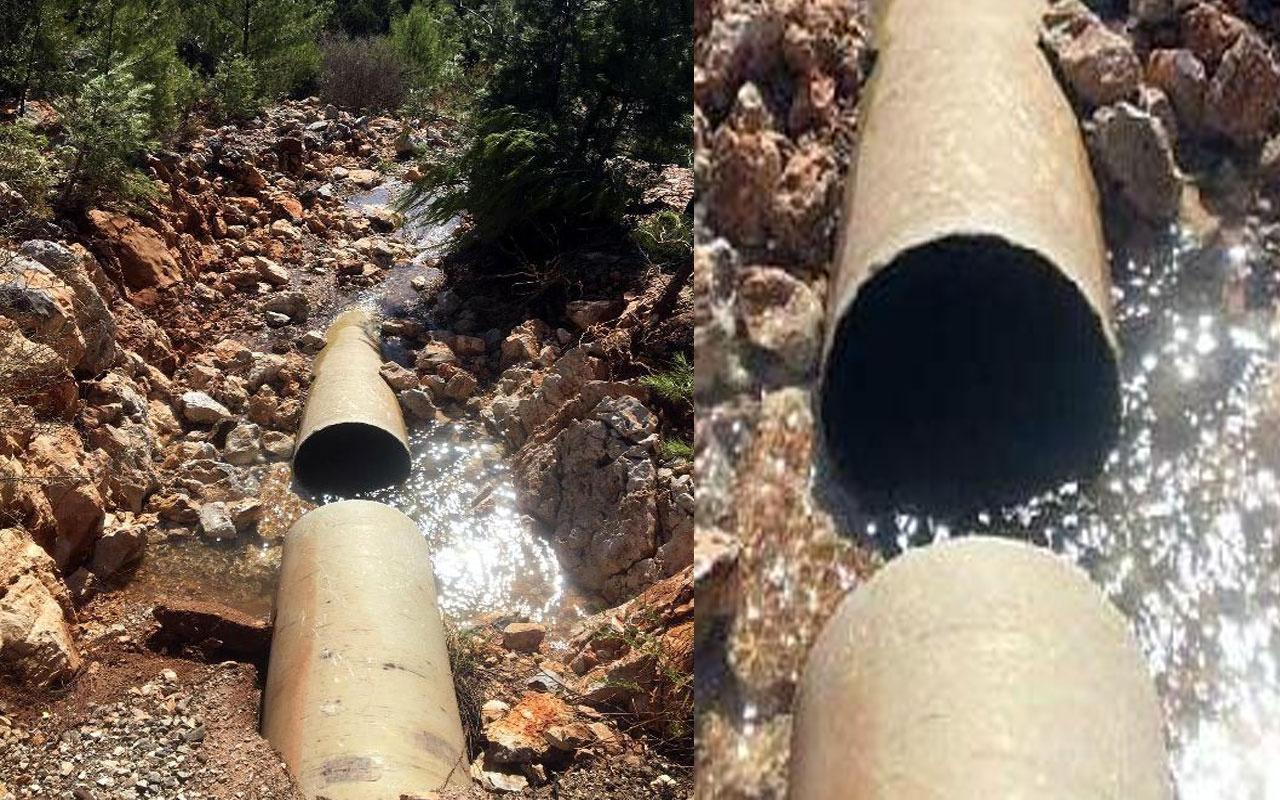 Bodrum'da yine su borusu patladı! 36 saat su verilemeyecek