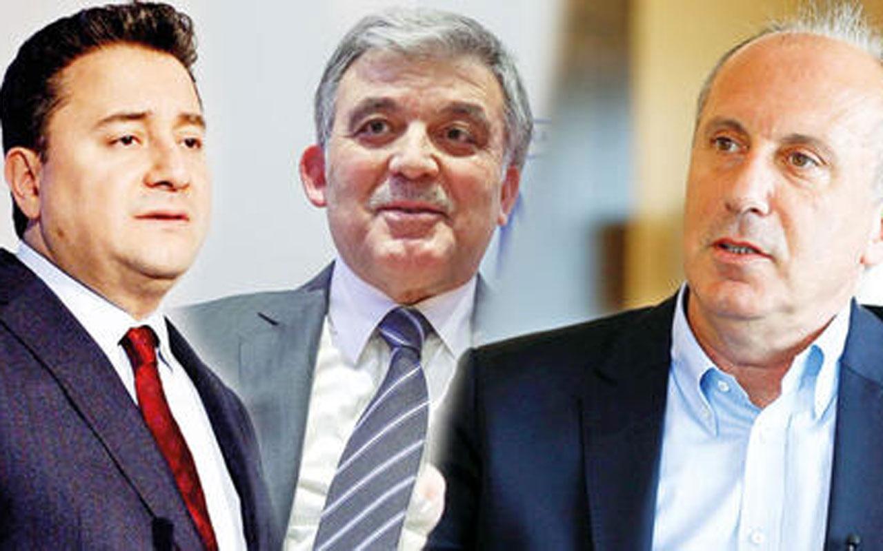 Muharrem İnce, Abdullah Gül ve Ali Babacan'ı ıskartaya çıkardı!
