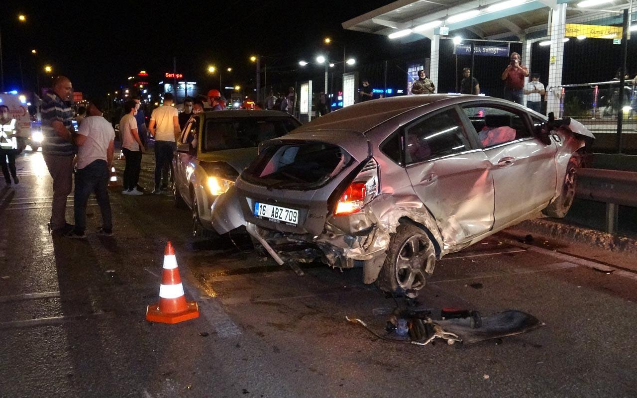 Bursa'da trafik magandası dehşeti yaşattı! Aracın motoru yerinden çıktı