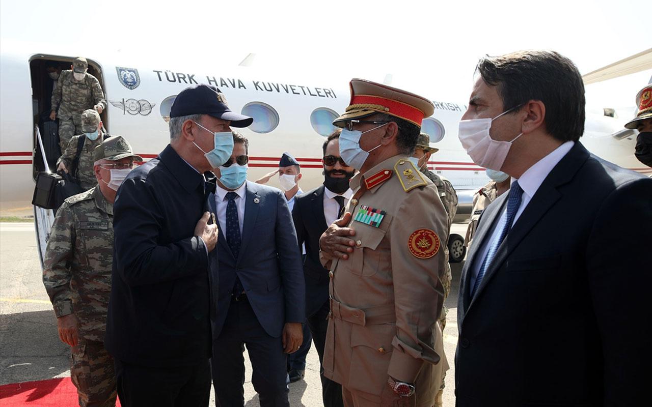 Libya'ya kritik ziyaret! Milli Savunma Bakanı Akar ve Genelkurmay Başkanı Güler Trablus'ta