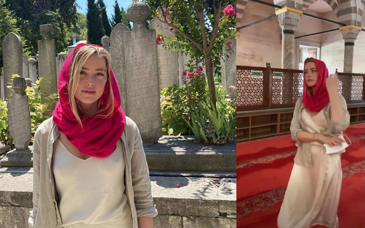Amber Heard'ın cami fotoğrafı olay oldu 'Sutyen takmamış'