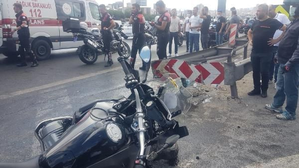 Bağcılar TEM'de feci kaza Yunus polisleri ağır yaralandı