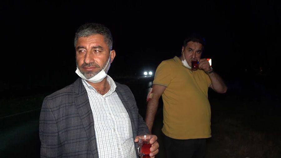 Kırıkkale'de pes dedirten görüntü! Kaza yaptıkları araçtan çıkar çıkmaz çay içtiler