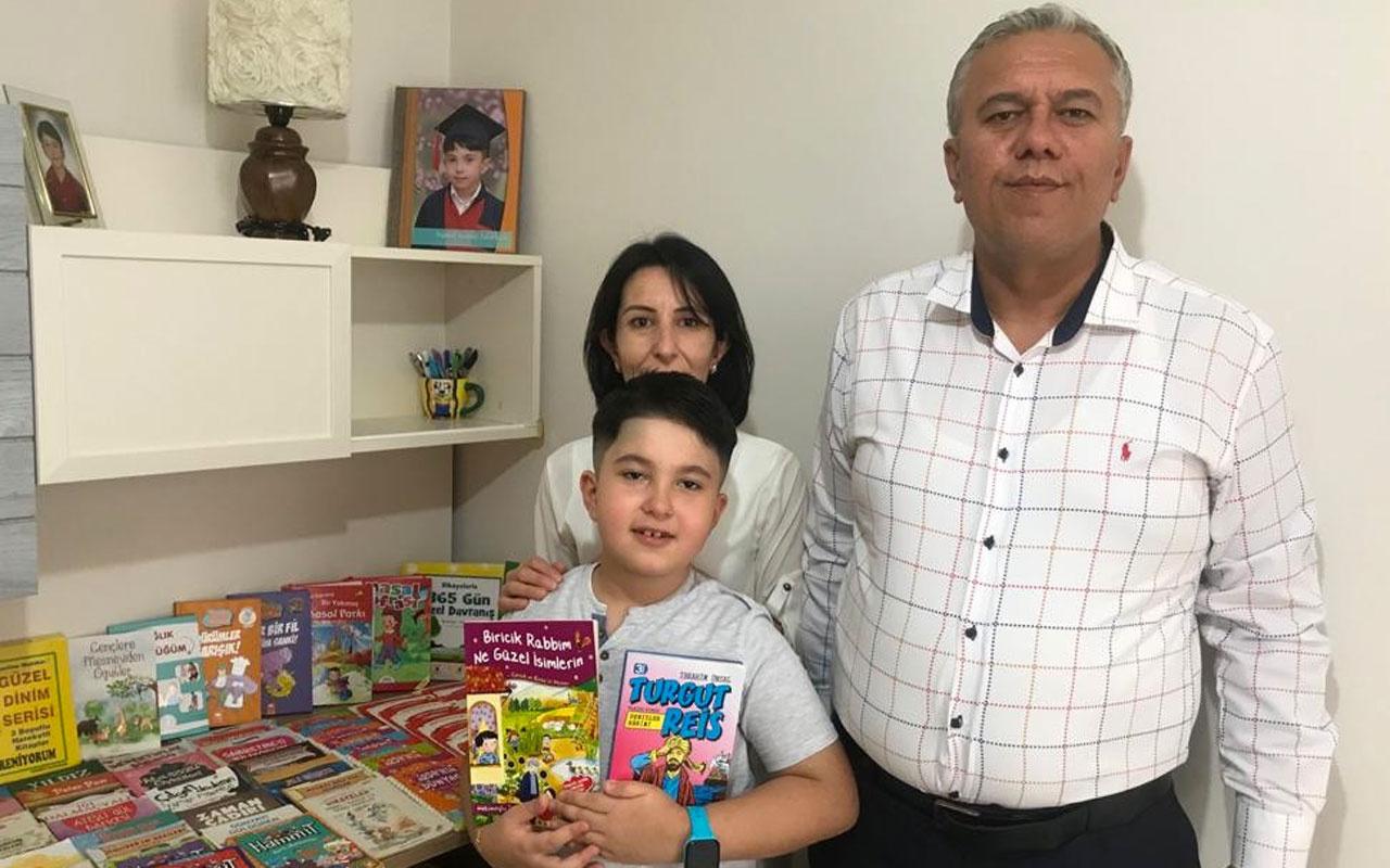 Kayseri'de 8 yaşındaki kitap kurdu çocuk 3 ayda 78 kitap okudu