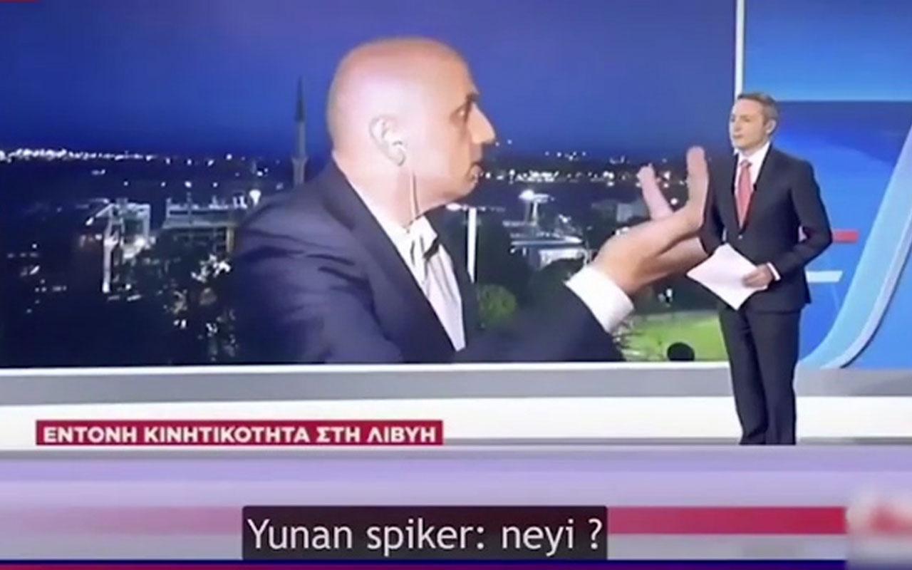 A Haber muhabiri Yunanistan'da olay oldu!