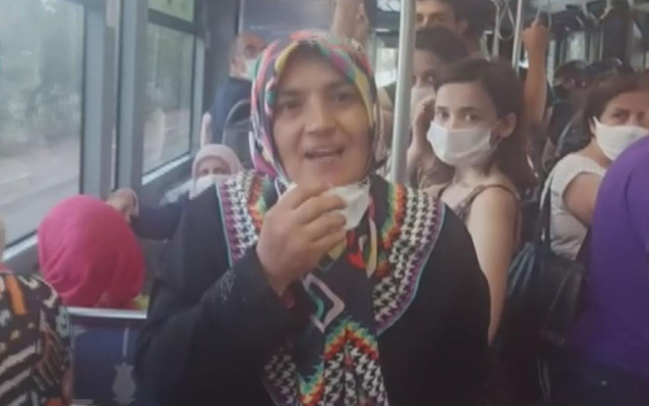 Kocaeli'de otobüste maske takmayan kadının pes dedirten savunmasu