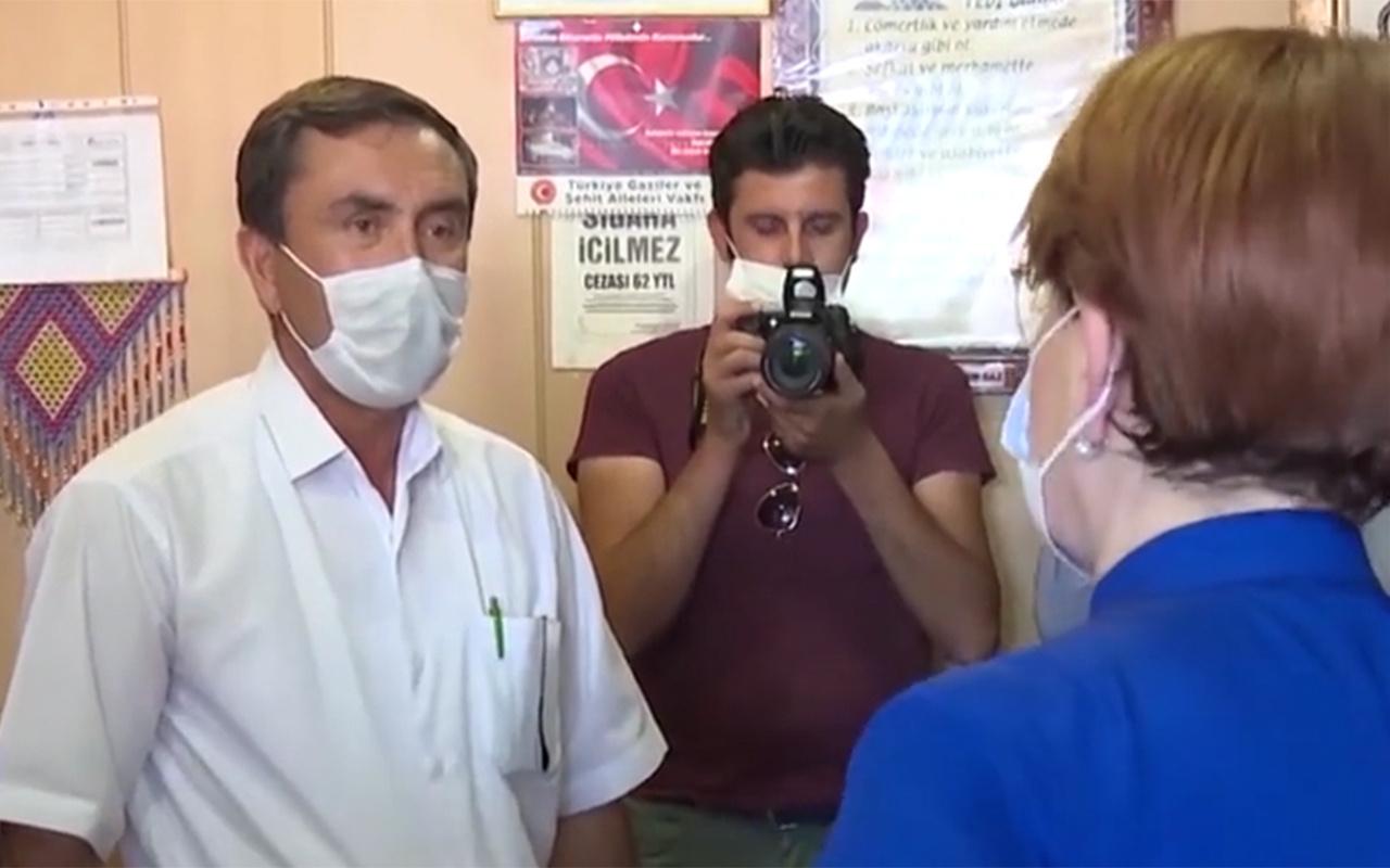 Aksaraylı esnaf, Meral Akşener'i Cumhur İttifakı'na davet etti