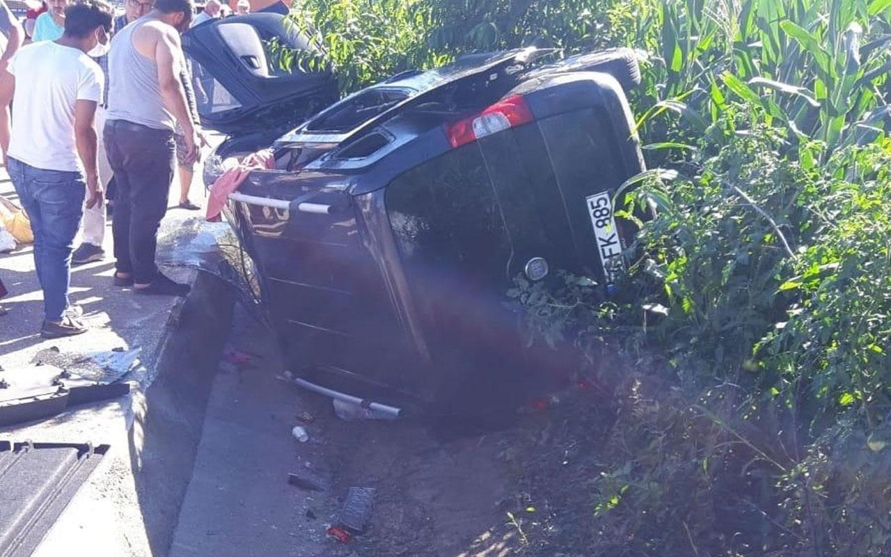 Giresun'da feci kaza! Otomobil su kanalına uçtu  polis öldü, eşi ve 3 çocuğu yaralandı