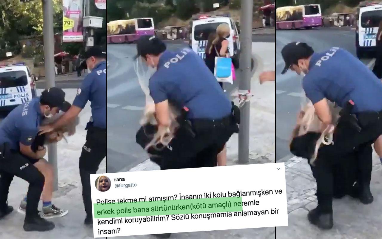 Rana Batı Kadıköy'deki gözaltıda polis bana sürtündü iddiasıyla tepki aldı