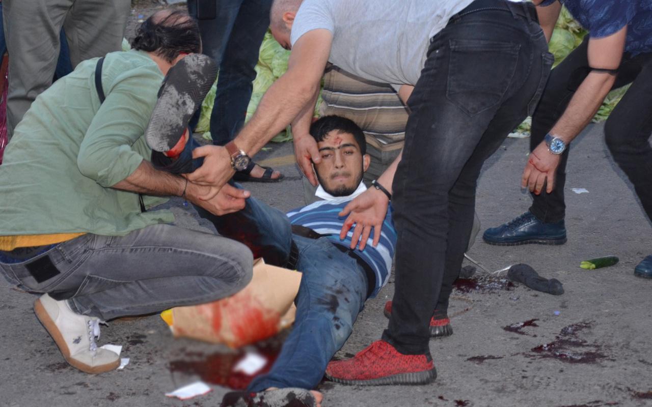 Ordu'da pazar yeri kan gölüne döndü 6 kişi birbirine saldırdı