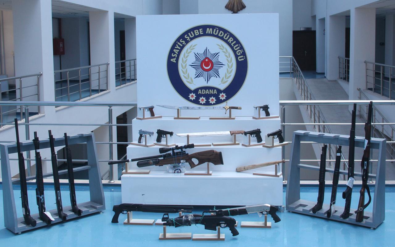 Adana'da 1 haftalık denetimde 41 adet silah ele geçirildi