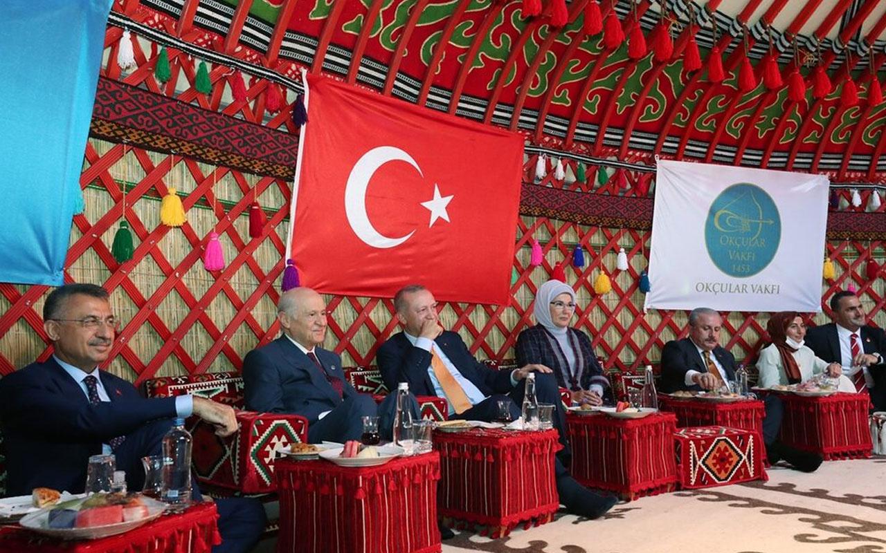 Cumhurbaşkanı Erdoğan ve Devlet Bahçeli Ahlat'taki etkinlikleri izledi