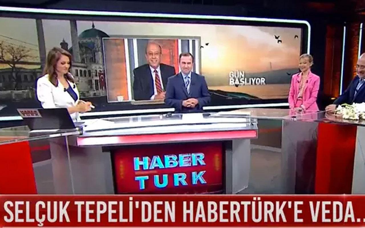 Selçuk Tepeli canlı yayında Habertürk'e veda etti! Fatih Portakal'ın yerine geçecek