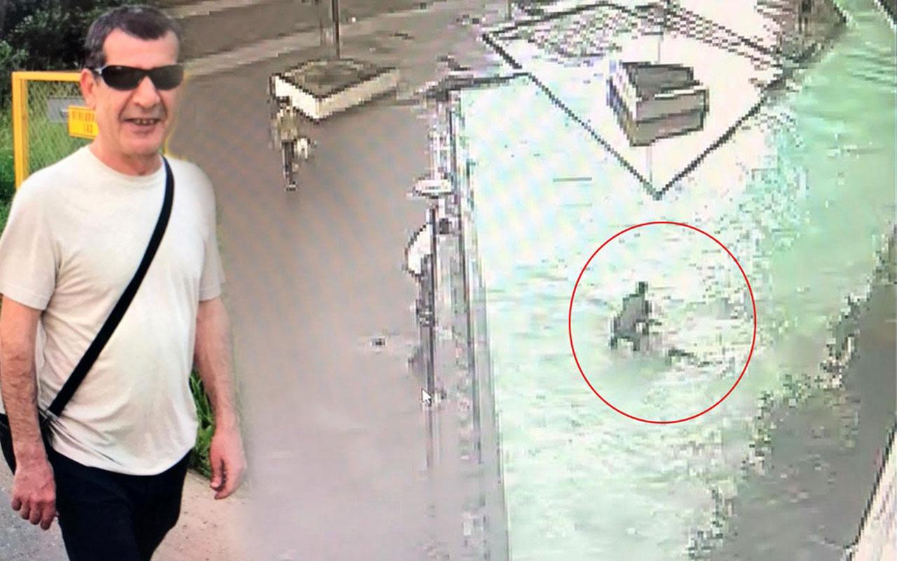 Esenyurt'ta lüks sitede 11 kattan süs havuzuna düştü! O anlar kameraya yakalandı