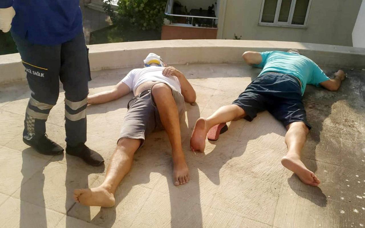 Antalya'da 2 arkadaşın 'balkon' denemesi böyle bitti