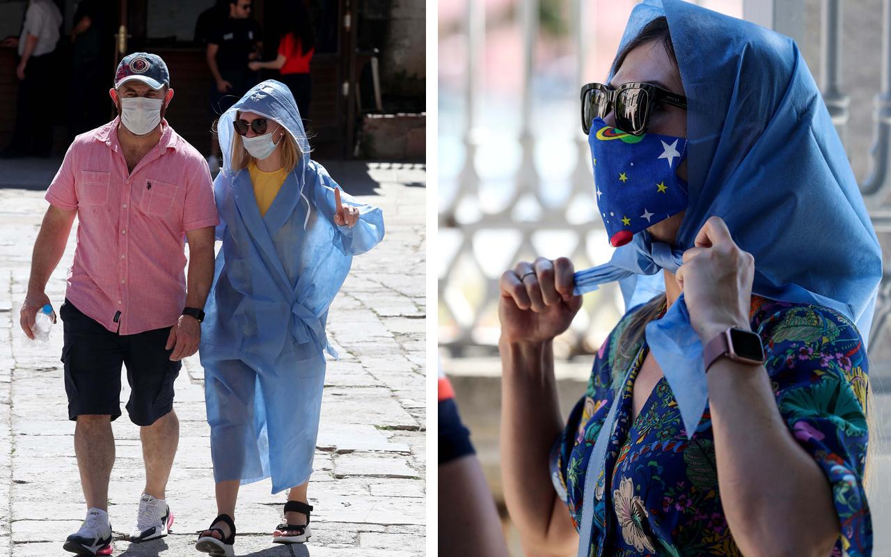 Ayasofya Camii'ne şort ve dekolteli giriş yasak artık böyle girilecek