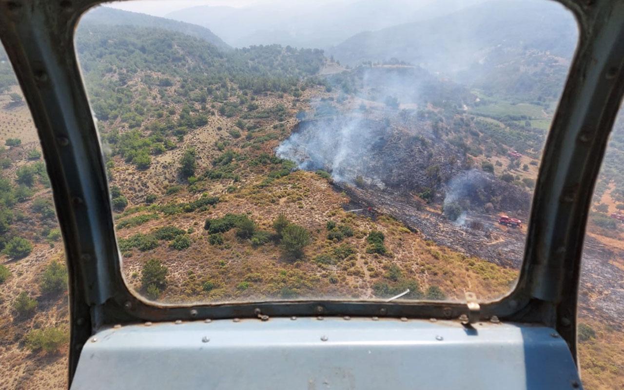 Hatay'da orman yangını çıktı! Alevlere müdahale sürüyor