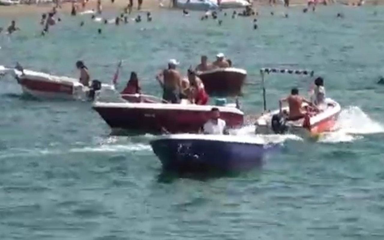 Bursa'da 30 Ağustos Zafer Bayramı'nda korku dolu anlar! Tekne battı işte o anlar