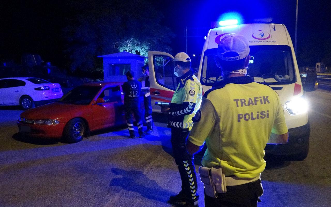 Tokat'ta polisin durdurduğu sürücü pozitif vaka çıktı