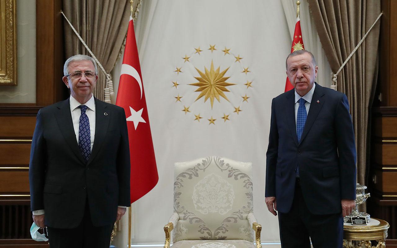Cumhurbaşkanı Erdoğan, Ankara Büyükşehir Belediye Başkanı Mansur Yavaş'ı kabul etti