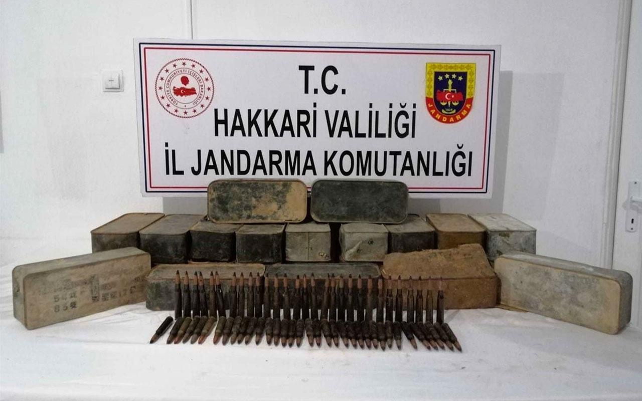 Hakkari'deki PKK/KCK operasyonunda uçaksavar mühimmatı ele geçirildi