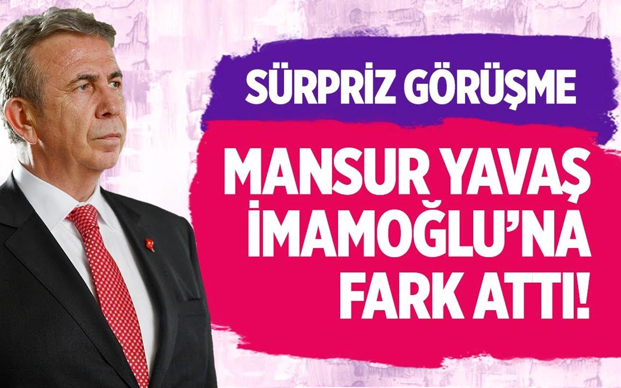Mansur Yavaş Erdoğan ile görüştü Yavaş İmamoğlu'na fark attı!