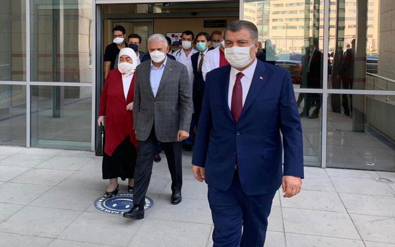 Sağlık Bakanı Fahrettin Koca açıkladı! Binali Yıldırım'ın sağlık durumu nasıl mesaj yağdı