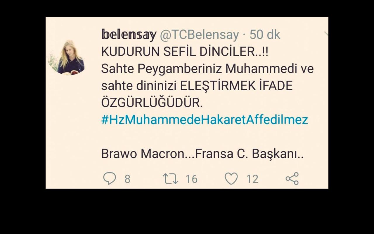 Twitter'da Hz Muhammed'e hakaret eden Elif Mersin Bursa'da gözaltına alındı