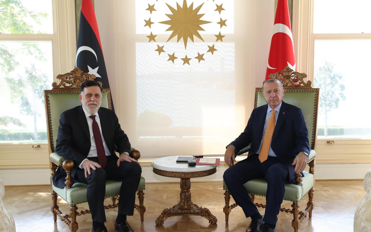 Cumhurbaşkanı Erdoğan Libya Başbakanı Fayiz es-Serrac'ı kabul etti