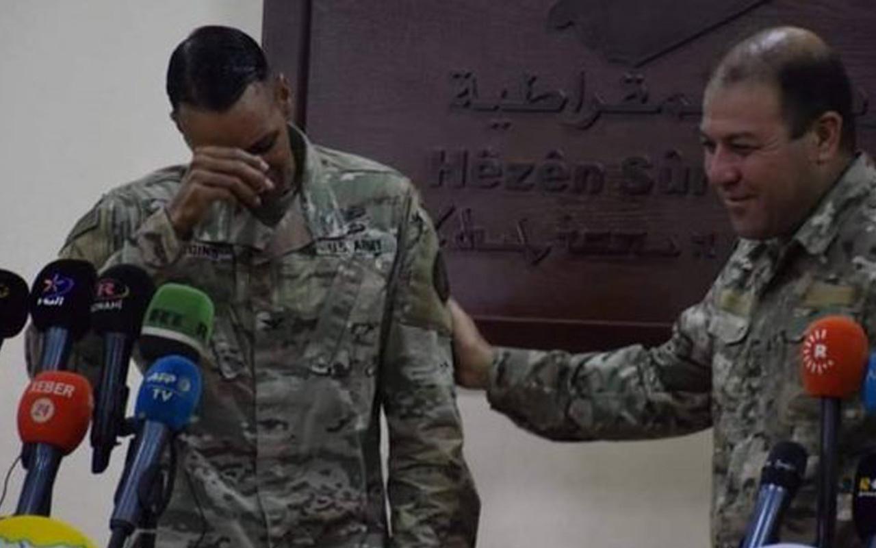 ABD'li sözde komutan terör örgütü PKK'ya destek veremeyeceği için ağladı