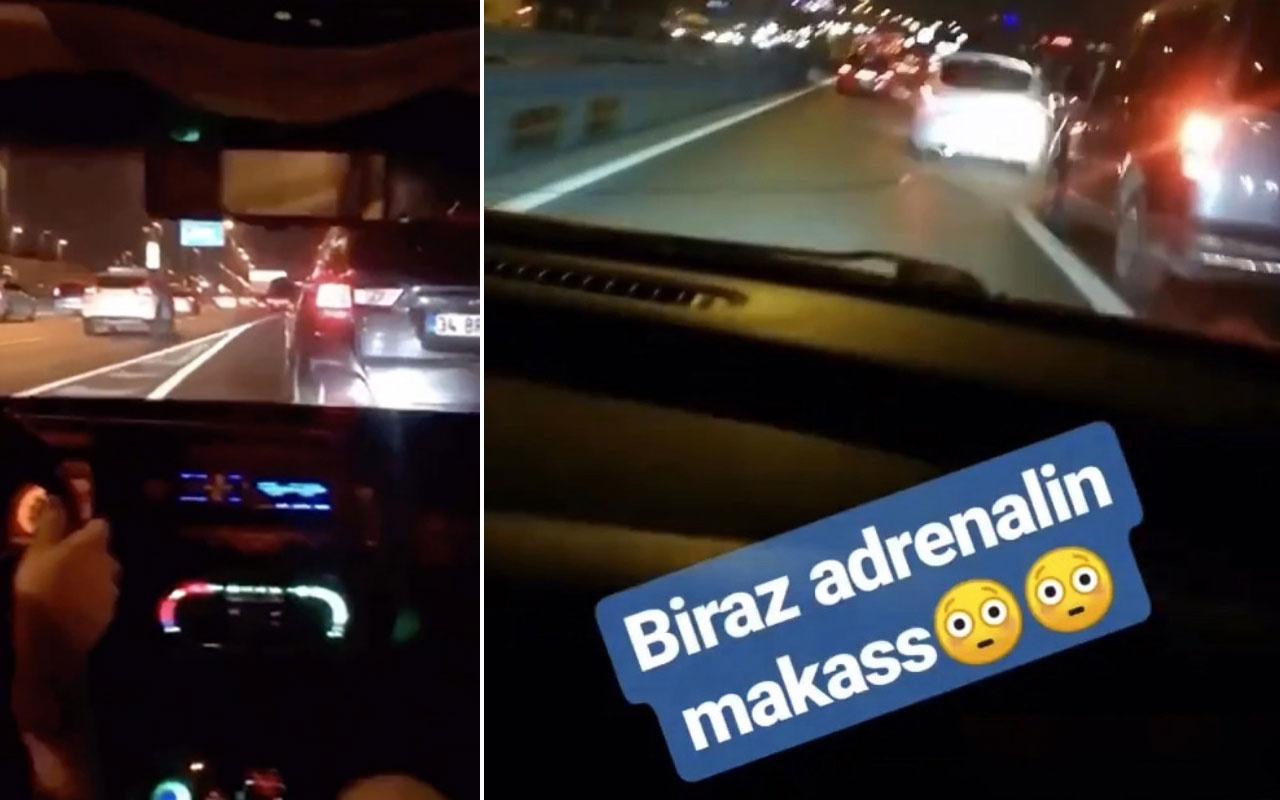 İstanbul trafiğinde 'makas' terörü kamerada