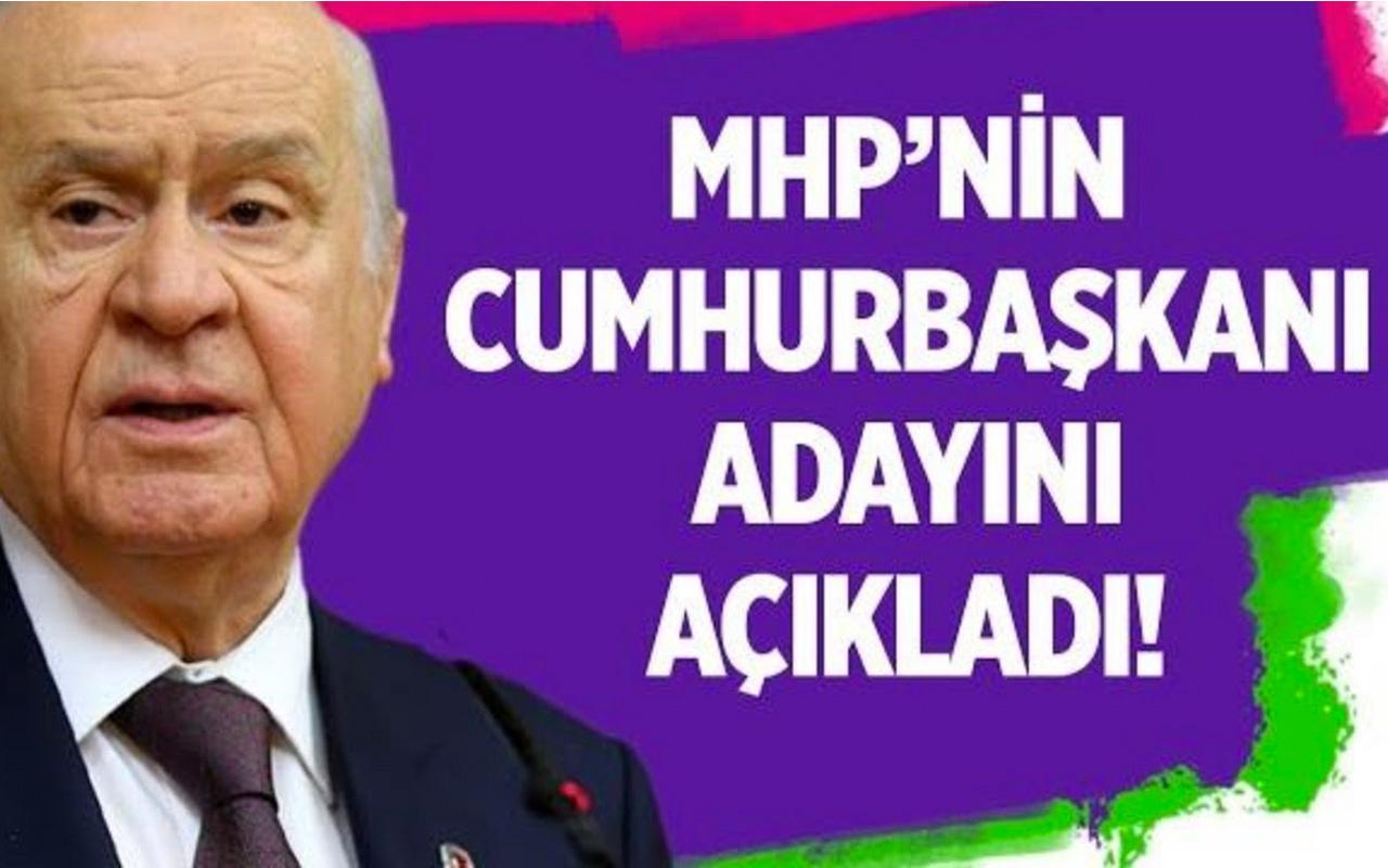 Devlet Bahçeli MHP'nin Cumhurbaşkanı adayını açıkladı