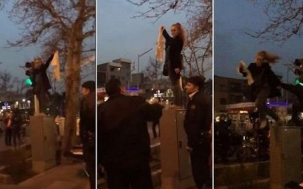 Türkiye başörtüsü eylemi yapan Meryem'i İran'a vermedi