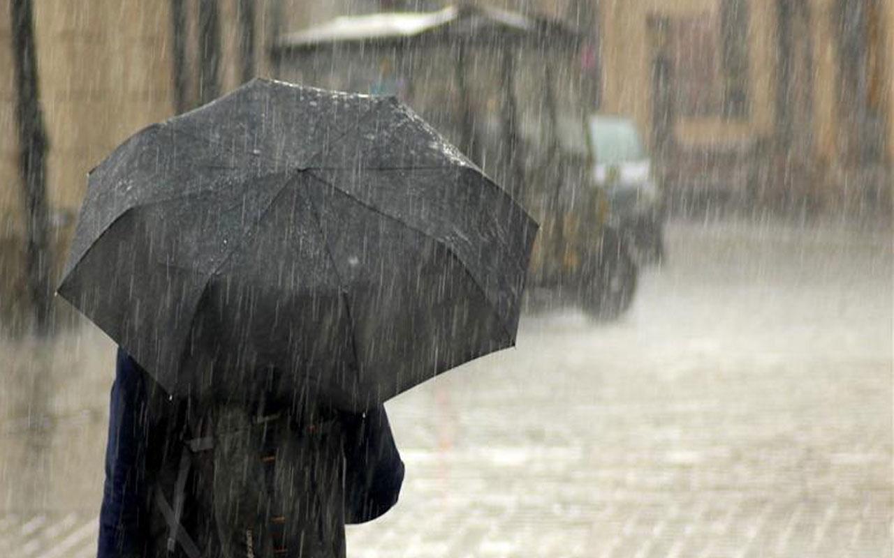 Meteoroloji 6 ili şiddetli yağış için uyardı tedbirli olun fena bastıracak!