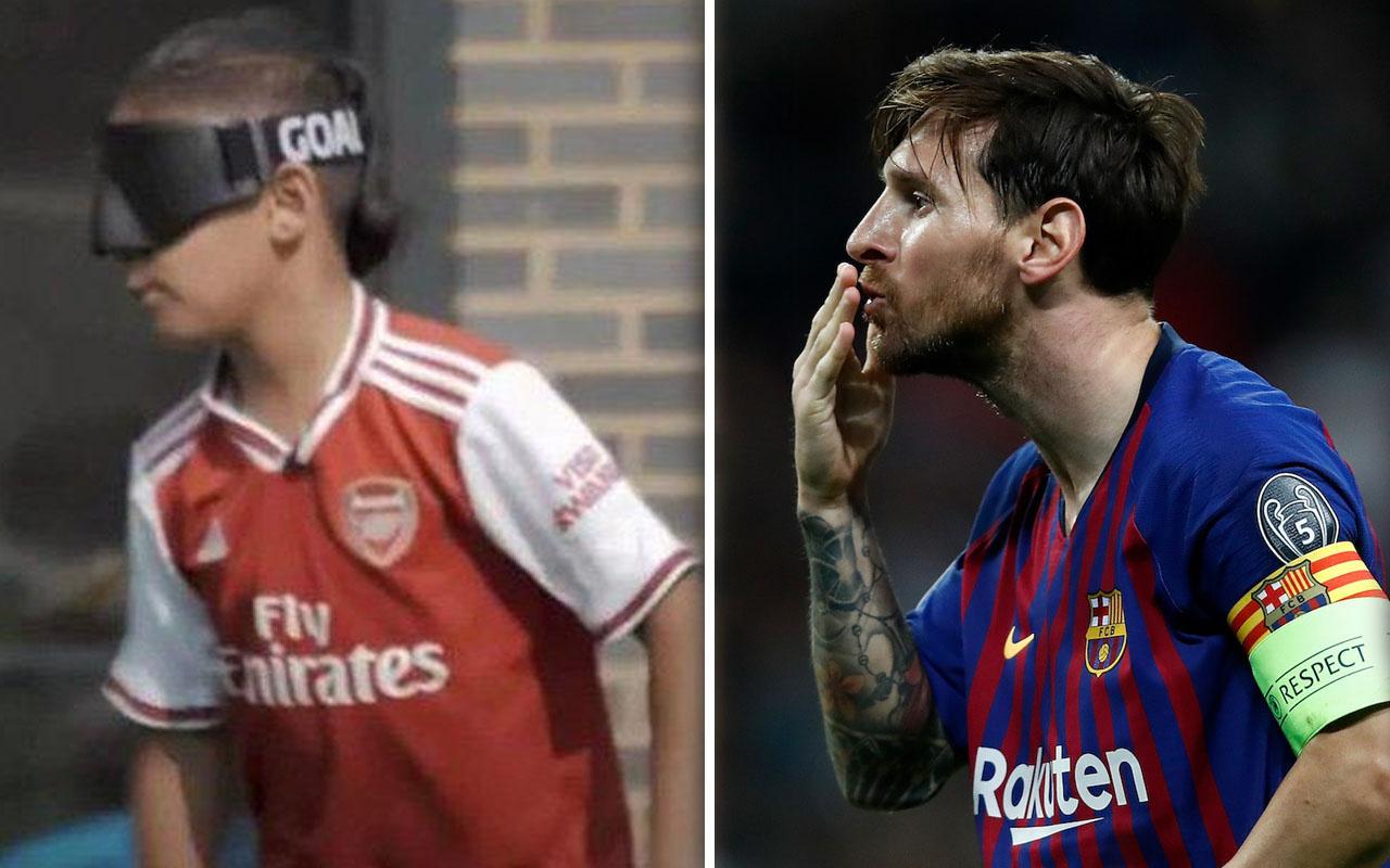 Lionel Messi'den Arsenal taraftarına büyük jest