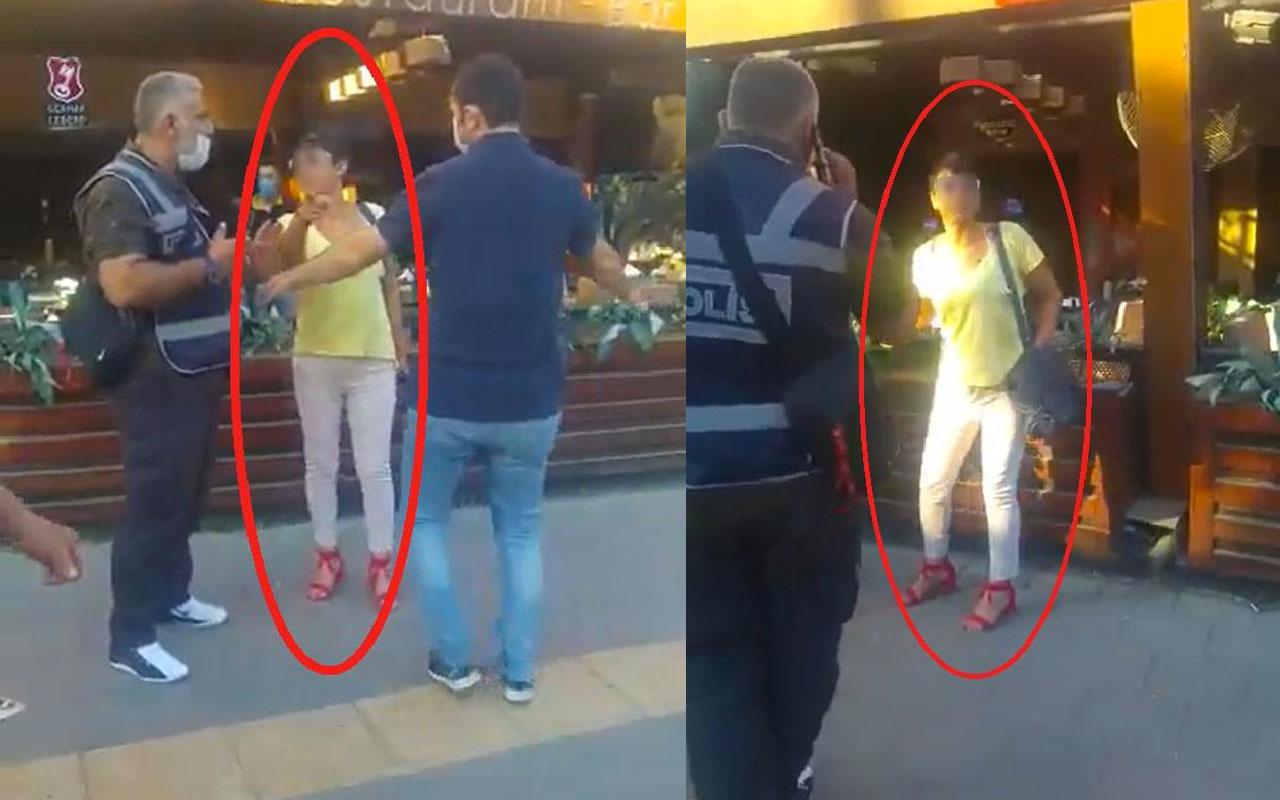 Maske takmayan kadına hemcinsinden tepki: Sen o polislere kurban ol