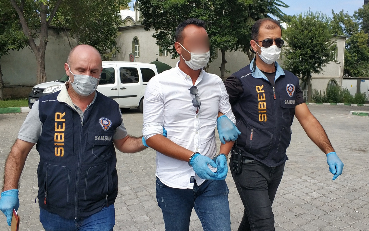 Samsun'da 'çıplak fotoğraf' iddiasıyla gözaltına alındı