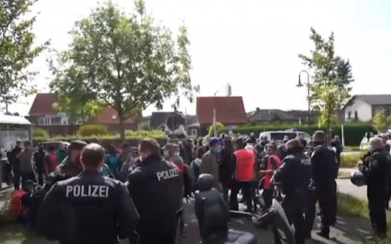 Almanya'da trene biletsiz binen PKK'lılarla polis arasında arbede çıktı
