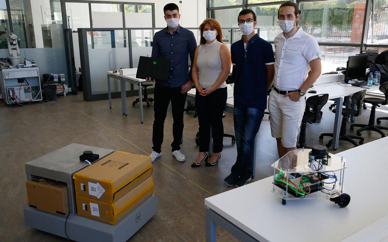 İEÜ'de kendi rotasını belirleyen otonom robot geliştirildi